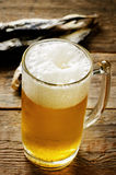 Beer and fish vobla Royalty Free Stock Images
