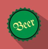 Beer flat icon. For web and mobile devices Royalty Free Stock Photography