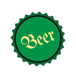 Beer flat icon. On white background Royalty Free Stock Images