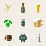 Beer Flat Icons Royalty Free Stock Photos