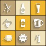 Beer Flat Icons Royalty Free Stock Images