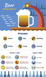 Beer Flat Infographic Stock Photography