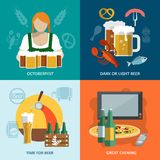 Beer flat set Royalty Free Stock Images