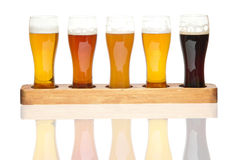 Beer Flight. stock image