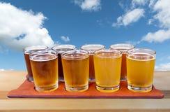 Beer flight Royalty Free Stock Photos