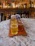 Beer flight Royalty Free Stock Image