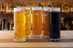 Beer flight Royalty Free Stock Images