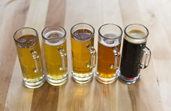 Beer Flight Royalty Free Stock Photos