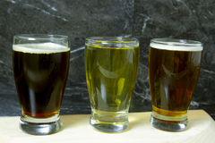 Beer flight Stock Photos