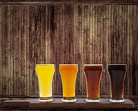 Beer Flight Stock Image