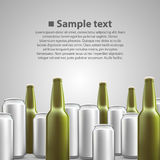 Beer flyer background Royalty Free Stock Photography