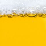 Beer with foam Stock Image