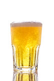 Beer with foam. And bubbles isolated on white background Stock Photos