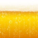 Beer foam background, horizontal seamless beer Stock Photos