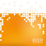 Beer foam background, stylized bubble. Vector Royalty Free Stock Photography