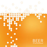 Beer foam background, stylized bubble. Vector Royalty Free Stock Images