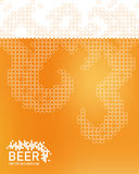 Beer foam background, stylized bubble. Vector Royalty Free Stock Image
