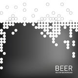 Beer foam background, stylized bubble. Vector Stock Photos