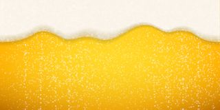 Free Beer Foam Bubbles Background. Vector Realistic Beer Foam Sparkling Bubbles Royalty Free Stock Image - 131408366