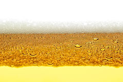 Beer, foam, bubbles isolated on white background Royalty Free Stock Photos
