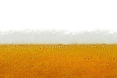Beer, foam, bubbles isolated on white background Royalty Free Stock Image