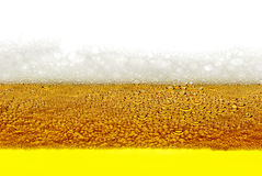 Beer, foam, bubbles isolated on white background Stock Photo