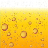 Beer with Foam and Bubbles. Vector Background royalty free illustration