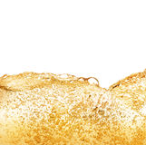 Beer foam flowing. And bubbles. Golden drink concept Stock Photography