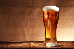 Beer With Foam Stock Photography