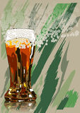 Beer and foam Stock Images