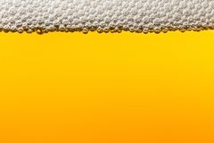 Beer with foam. Macro Royalty Free Stock Photos