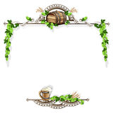 Beer frame with vintage elements Royalty Free Stock Image