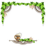 Beer frame with vintage elements Stock Image