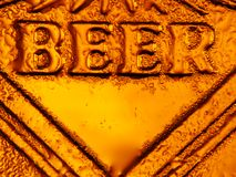 Beer fresh cold Royalty Free Stock Photo