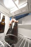Beer fridge Royalty Free Stock Images