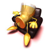 Beer in front of tv Royalty Free Stock Photography