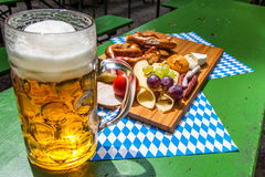 Beer garden Stock Image
