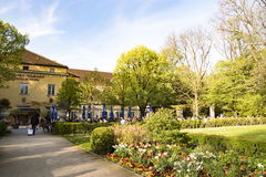 Beer garden in Botanical Park, Munich royalty free stock image