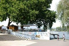 Beer Garden Mainz Stock Photography