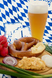Beer garden meal Royalty Free Stock Image