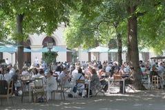 Beer Garden in Munich Stock Photos