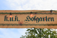 Beer garden sign Royalty Free Stock Photography