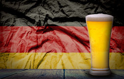 Beer with German flag Stock Image