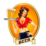 BEER GIRL BANNER Royalty Free Stock Photos