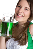 Beer Girl Laughing Royalty Free Stock Images