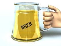 Beer glass. Glass jar with cool beer Stock Photography