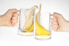 Beer in glass Royalty Free Stock Photos