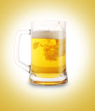 Beer in glass. Close up Stock Images