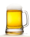 Beer into glass Stock Photography