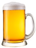 Beer glass. On a white background. With Clipping Path stock photography